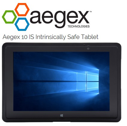 AEGEX10 IS Tablet - ATEX & IECEx Zone1, UL5 Div1, LTE INT, Windo