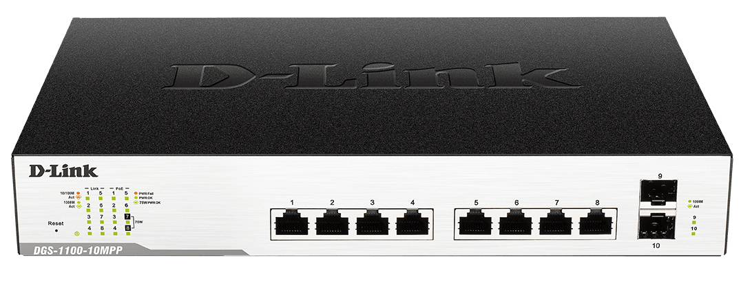 10-Port Gigabit EasySmart Switch PoE