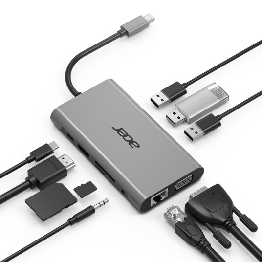 ADAPTER TYPE-C 10-IN-1 : 3x USB 3.0 1x
