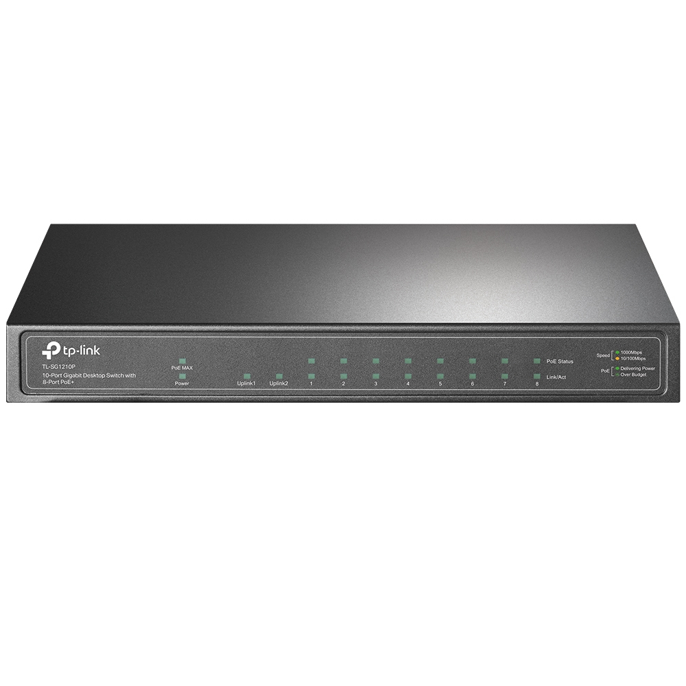 10-Port GB Desktop Switch 8-Port PoE