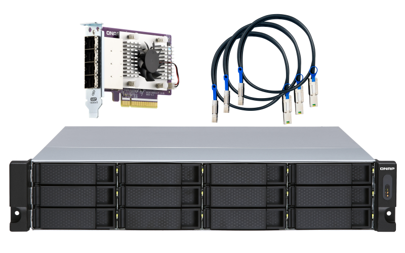 12-bay 2U rackmount SATA JBOD expansion